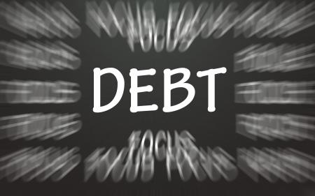 debt focus symbol  photo