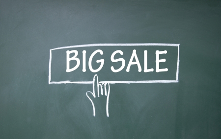 abstract finger click big sale symbol Stock Photo - 14828225