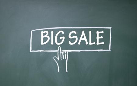 abstract finger click big sale symbol  photo
