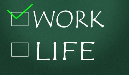 work or life choice Stock Photo - 14828195