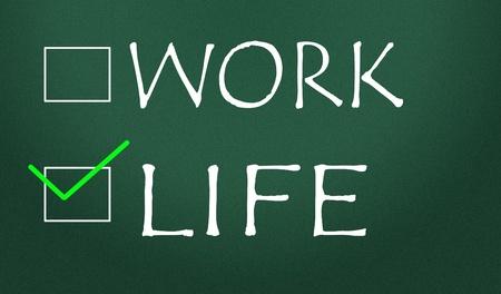 work or life choice Stock Photo - 14828196