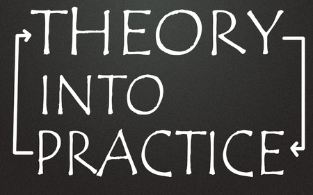 theory into practice symbol photo