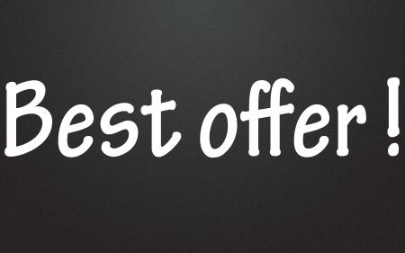 best offer symbol  photo