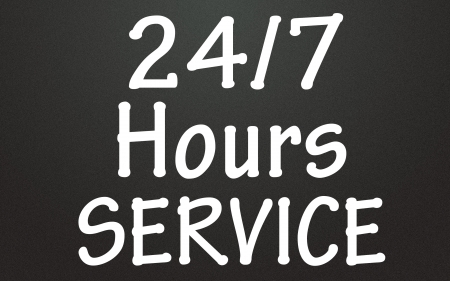 aftersale: 24 hours services symbol