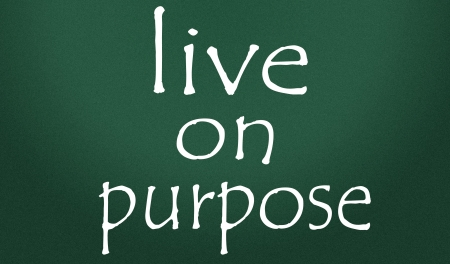 intention: live on purpose symbol