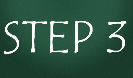 step 3 symbol  photo