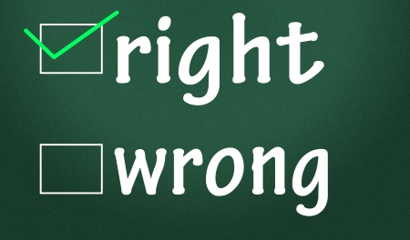 right and wrong judgment Stock Photo - 14828245