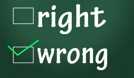 right and wrong judgment Stock Photo - 14828247
