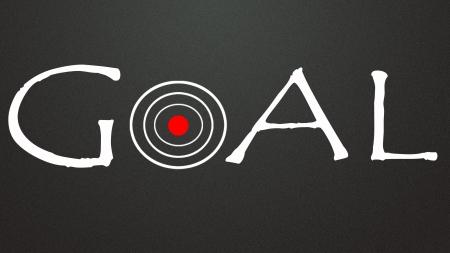 holed: goal symbol Stock Photo