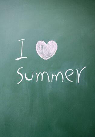 i love summer symbol  photo