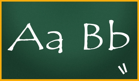 bb: Aa Bb written with chalk on blackboard Stock Photo