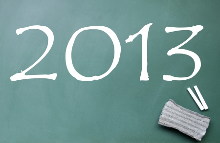 2013 title on blackboard photo