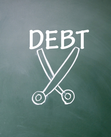 recovery: cut debt symbol  Stock Photo