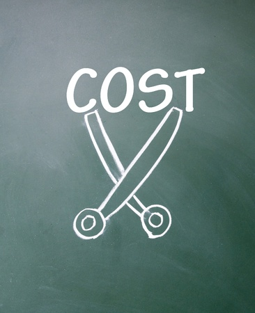 cut cost symbol Stock Photo - 14922303