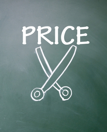 price cutting: cut price symbol