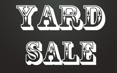 yard sale title  Stock Photo - 14995614