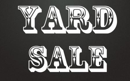 yard sale title Stock Photo - 14995614