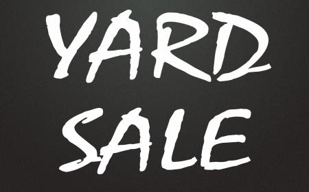yard sale title Stock Photo - 14995613