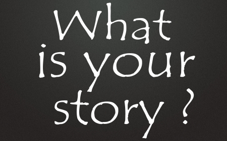 what is your story   title  Stock Photo