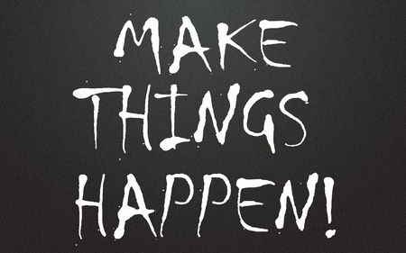 make things happen title Stock Photo - 14992751