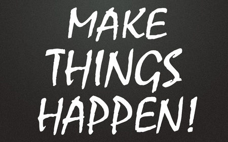 make things happen title  Stock Photo - 14992750