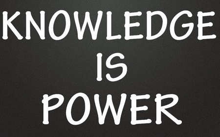 knowledge is power title Stock Photo - 14992794