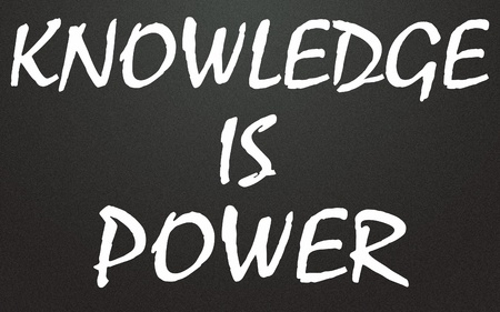 knowledge is power title  Stock Photo