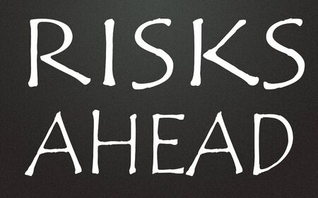 risks ahead sign  photo