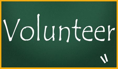 ボランティアのタイトル 写真素材