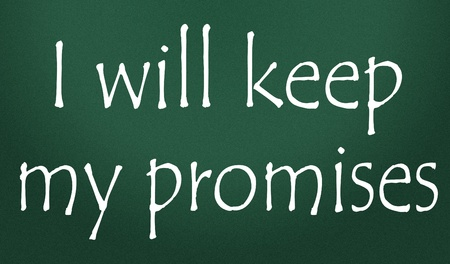 i will keep my promises title