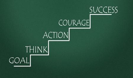 nesnel: başarı adımlar Stok Fotoğraf