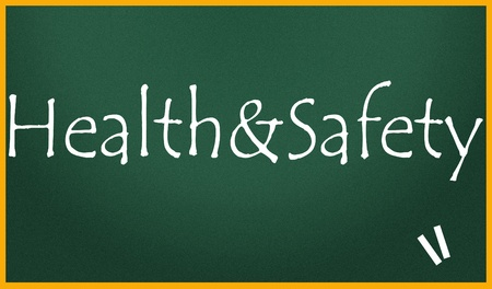 health and safety title  Stock Photo
