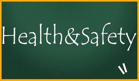 seguridad e higiene: la salud y la seguridad del t�tulo Foto de archivo