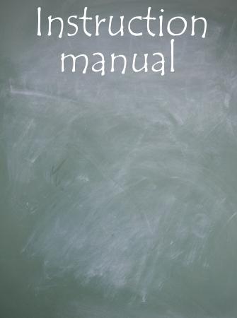 instruction manual sign photo