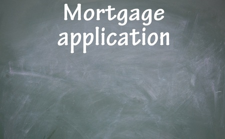 mortgage application sign photo