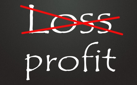 right ideas: loss and profit symbol  Stock Photo