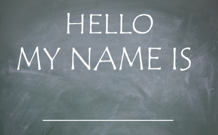 hello my name is title Stock Photo - 14974378