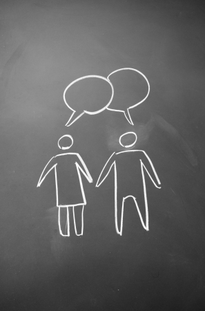 man and woman chat sign Stock Photo - 15121871