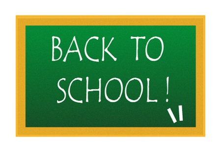 back to school title write on blackboard Vector
