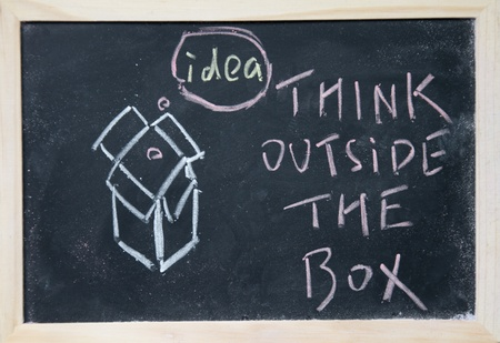 think outside the box Stock Photo - 16075284