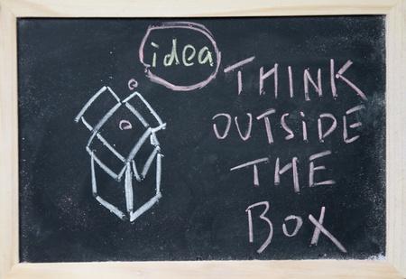 afflatus: think outside the box  Stock Photo