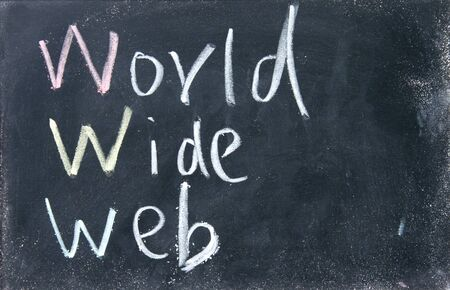 world wide web sign photo