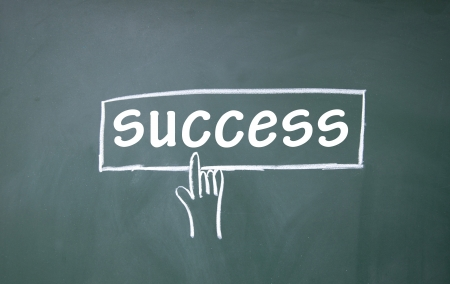 abstract finger click success sign Stock Photo - 16075319