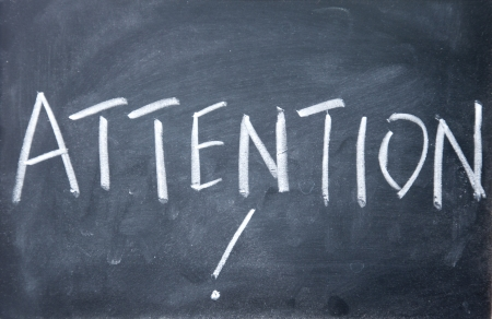 attention sign Stock Photo - 16097924