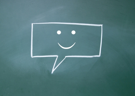 smile chat sign Stock Photo - 16297066