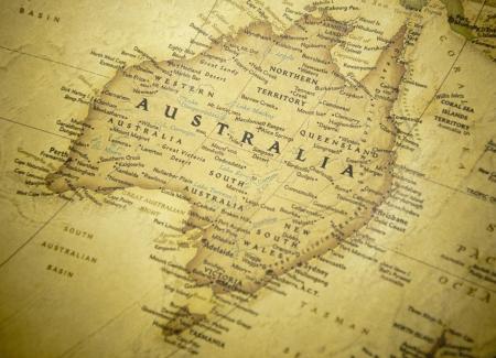 queensland: australia map