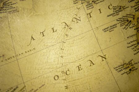Atlantic ocean map photo