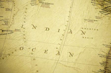 india ocean map photo