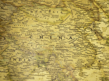 ming: china map Stock Photo