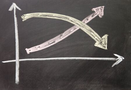 chart drawn with chalk on blackboard Stock Photo - 16536528